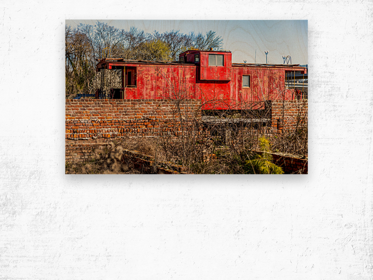 Rail Car in Petersburg VA Wood print