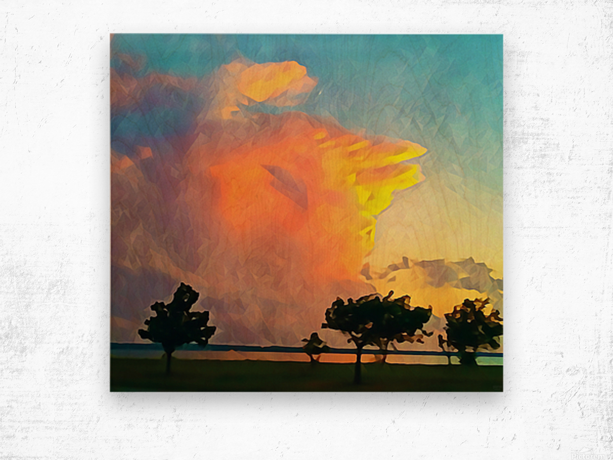 thunder cloud Wood print