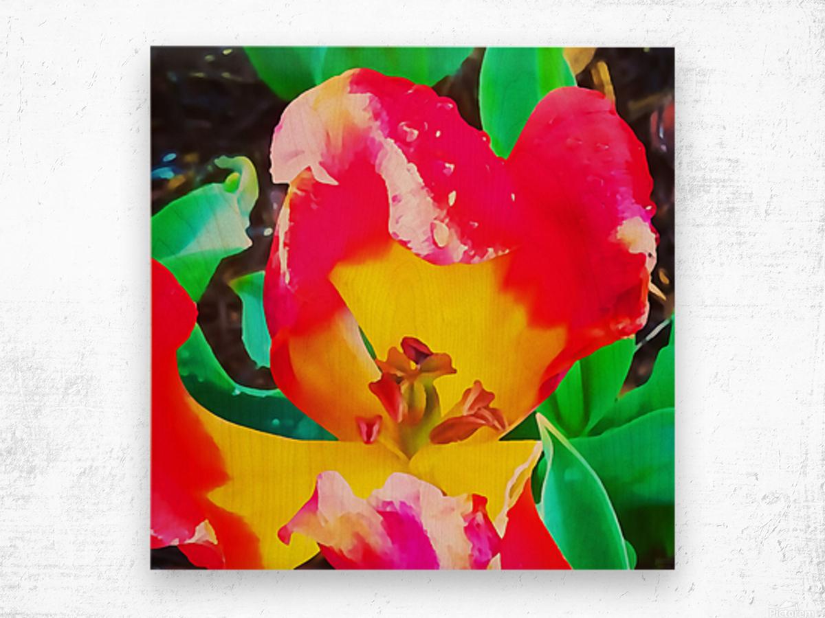 heart flower Wood print