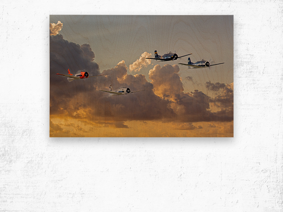 Four T 28 Trainers Wood print