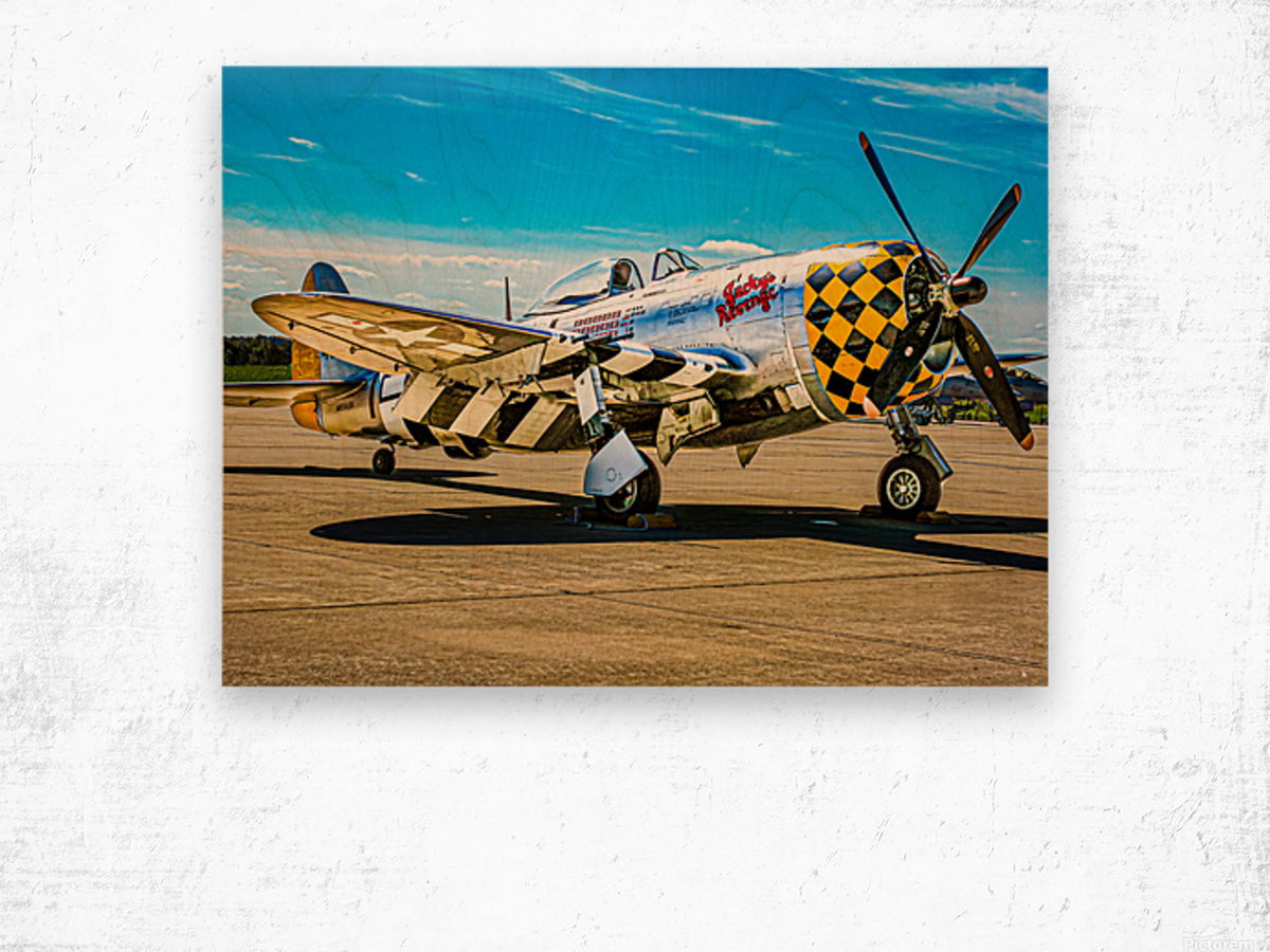 P 47D Thunderbolt Wood print