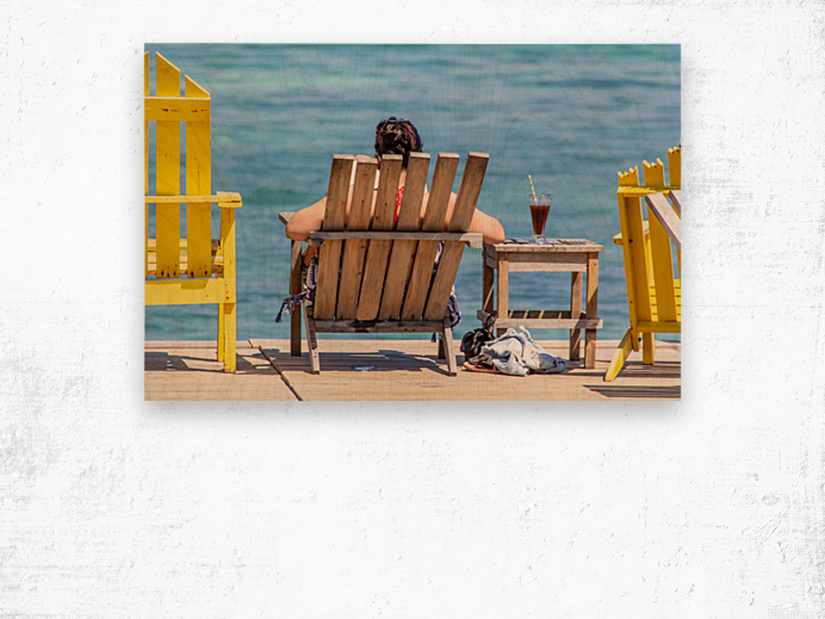 Ambergris Caye 4 Wood print