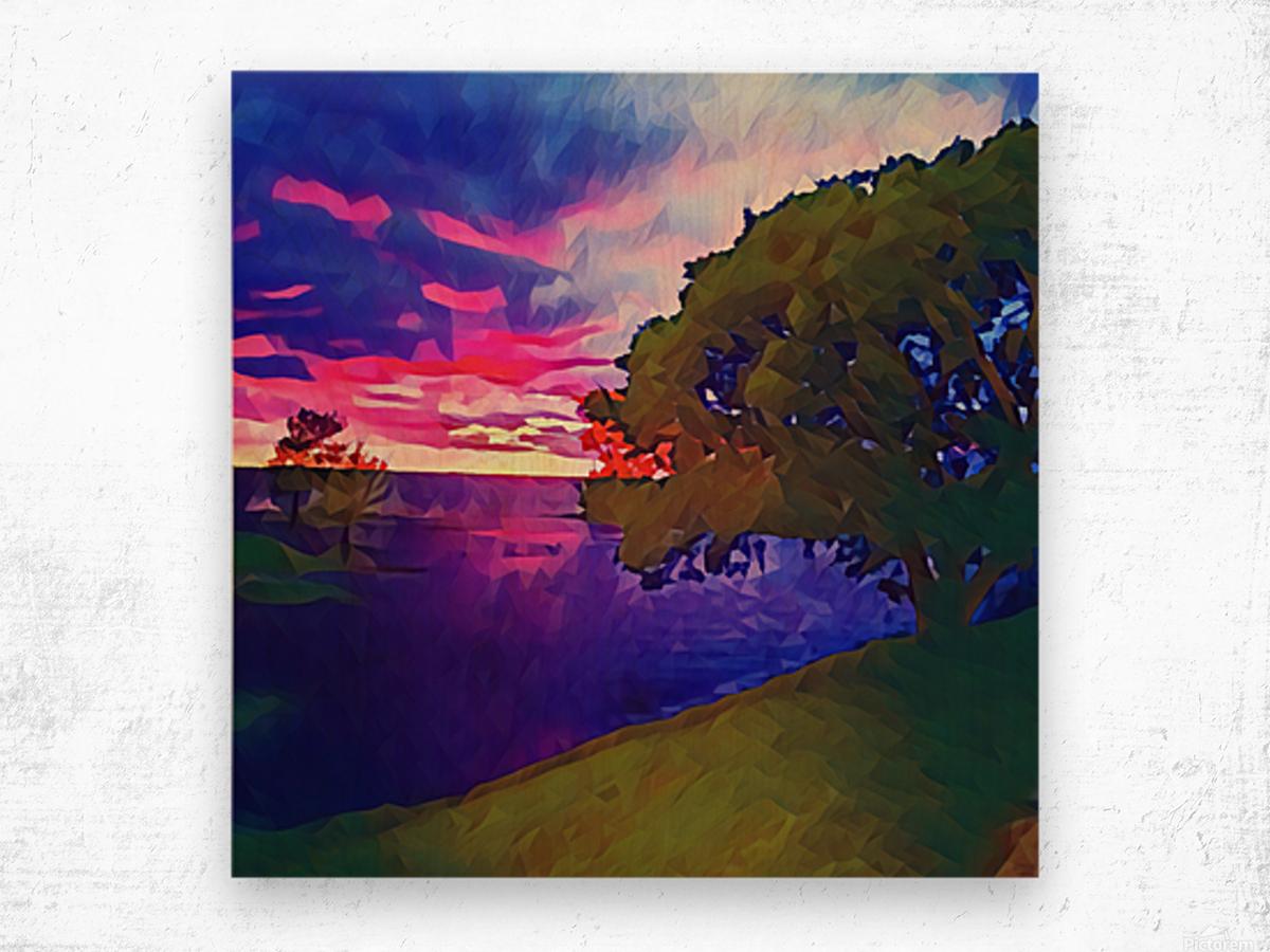 summer evening Wood print