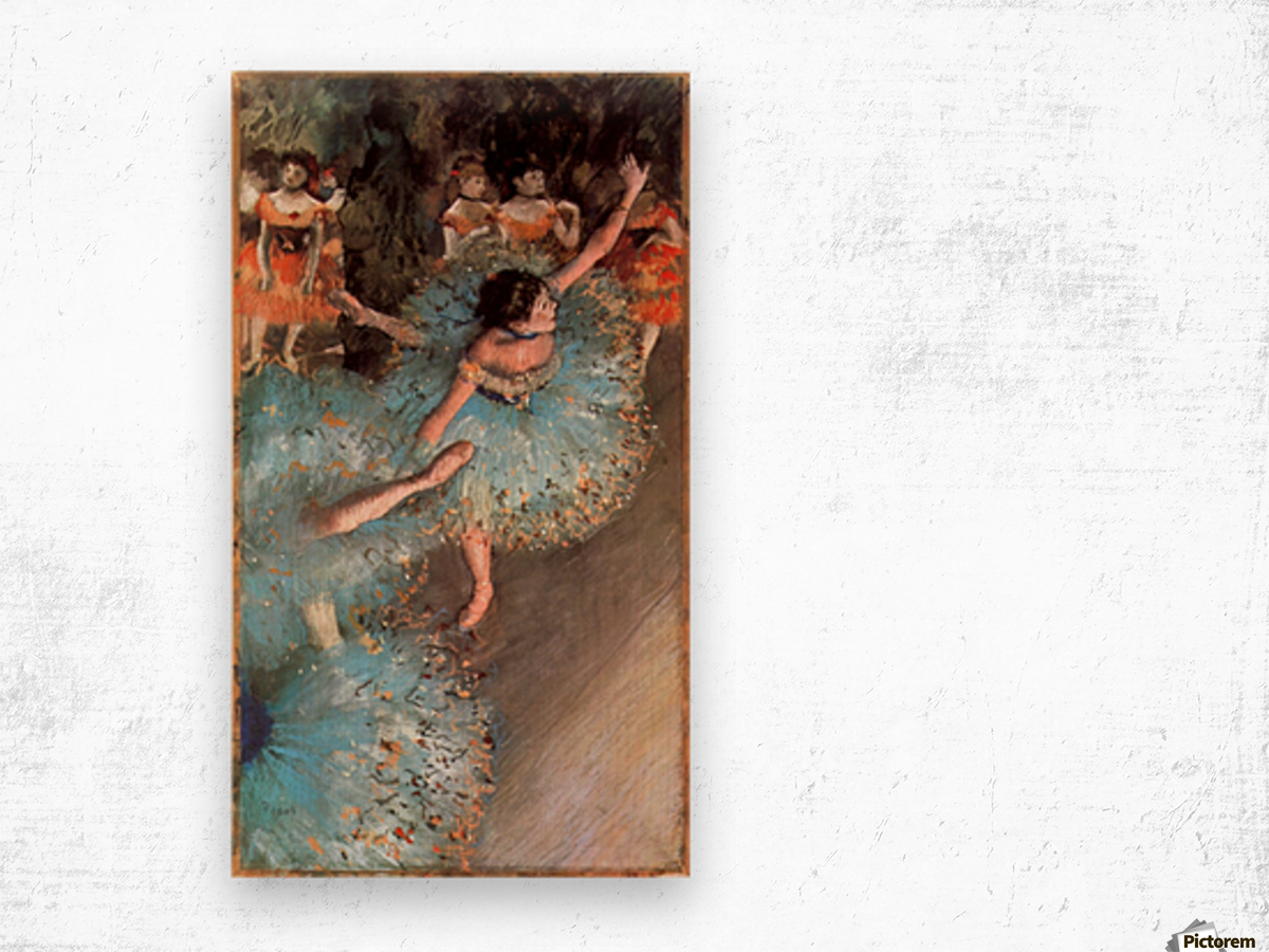 The Greens dancers by Degas Wood print