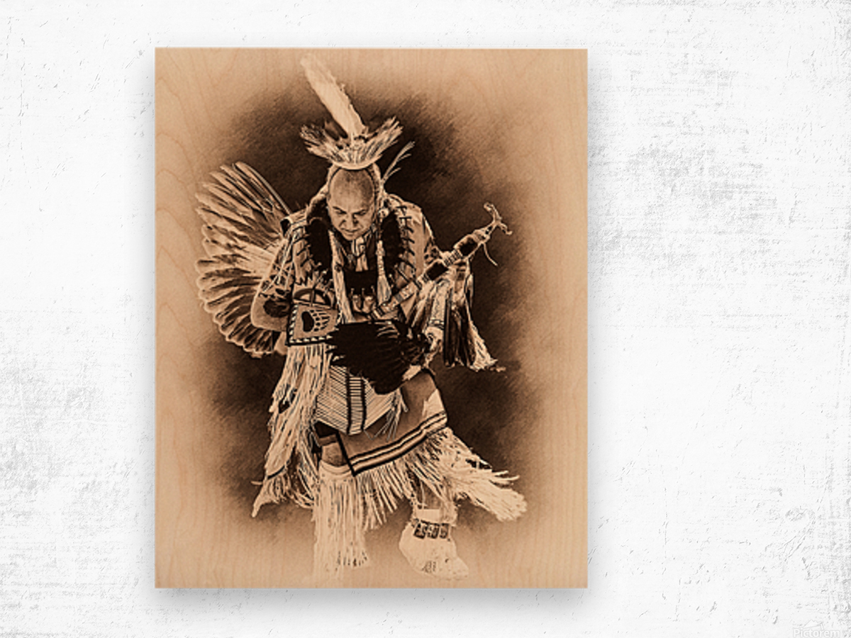 Native American 14 Wood print