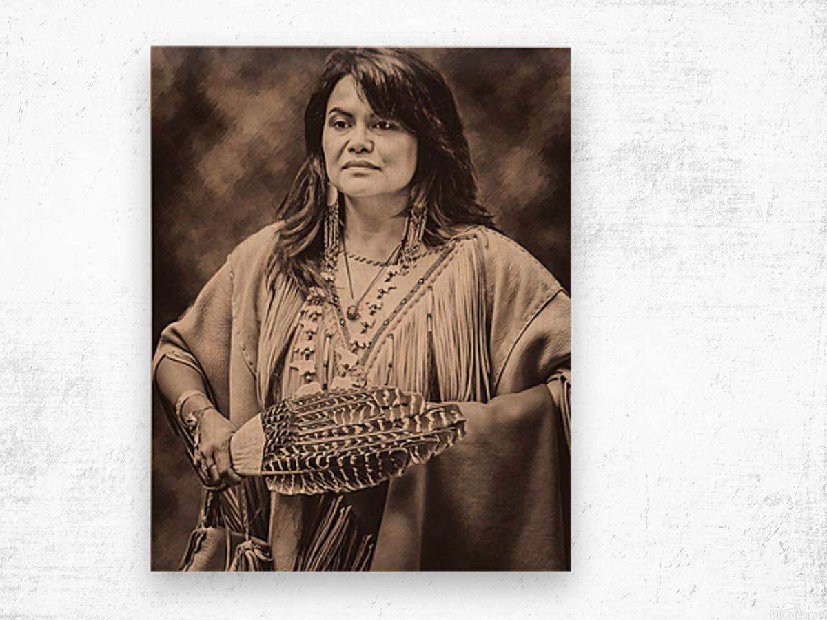 Native American 5 Wood print