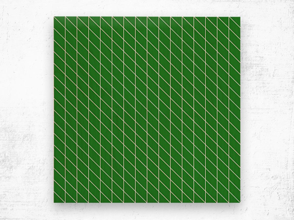 Green Checkers Pattern Wood print