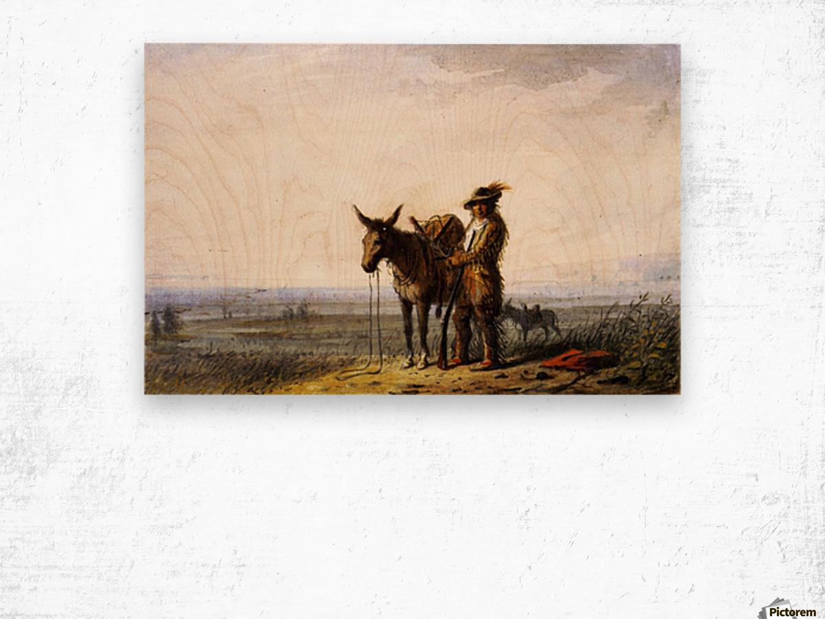 Old Bill Burrows a Free Trapper Wood print
