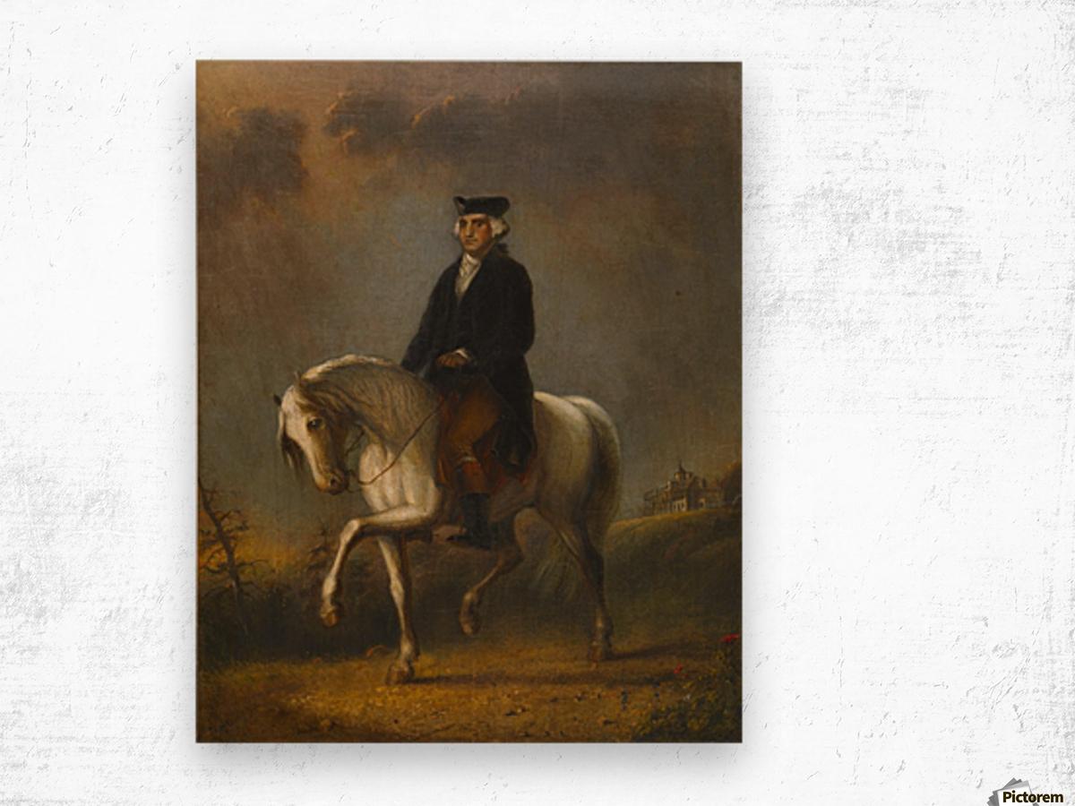 George Washington at Mount Vernon Wood print