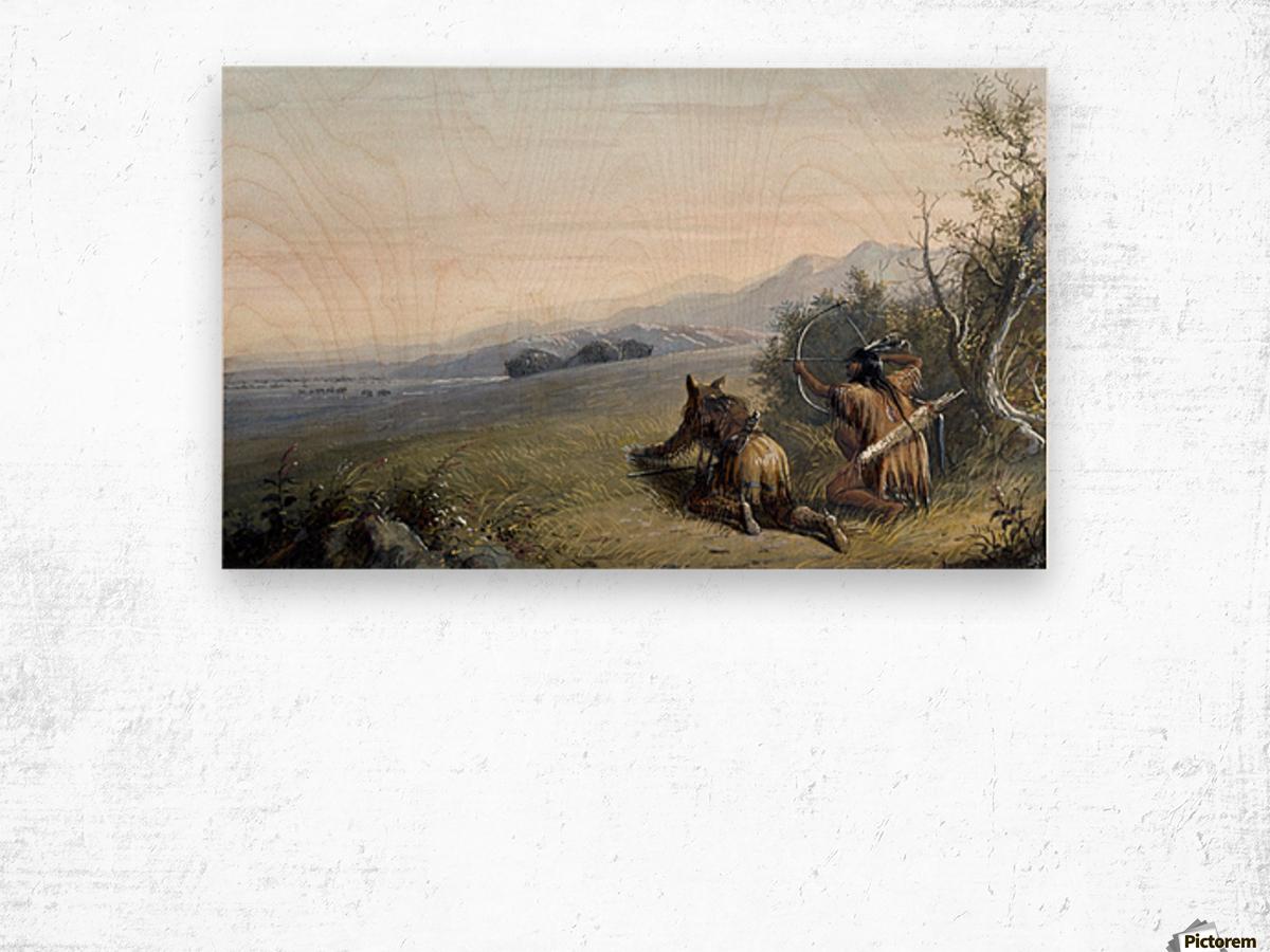Indian hunters Wood print