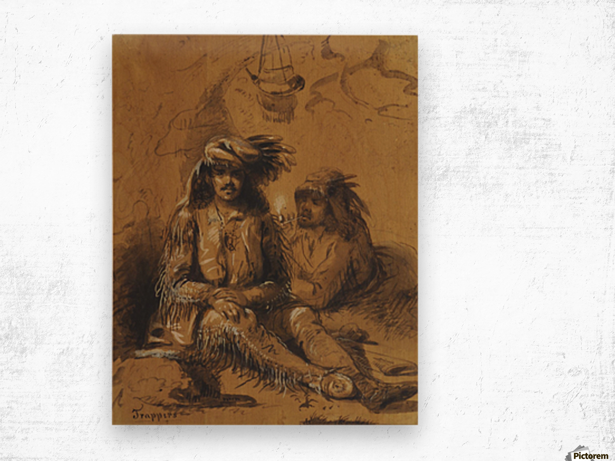 Trappers, Auguste and Louis Wood print
