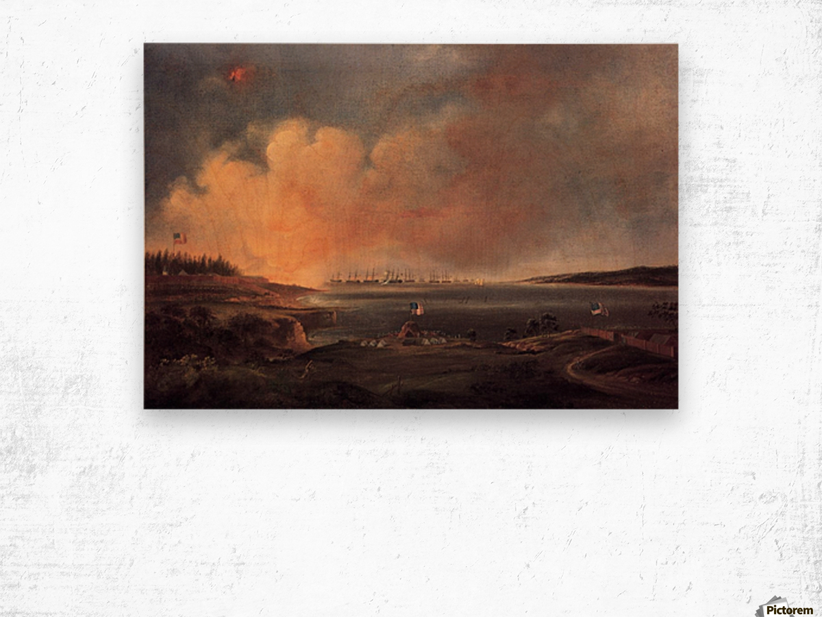 The Battle of Fort McHenry Wood print