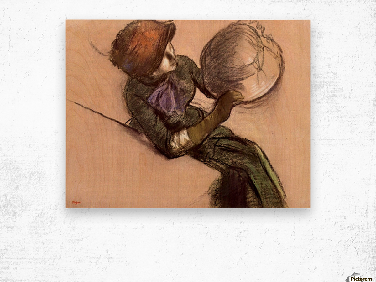 The milliner 2 by Degas Wood print
