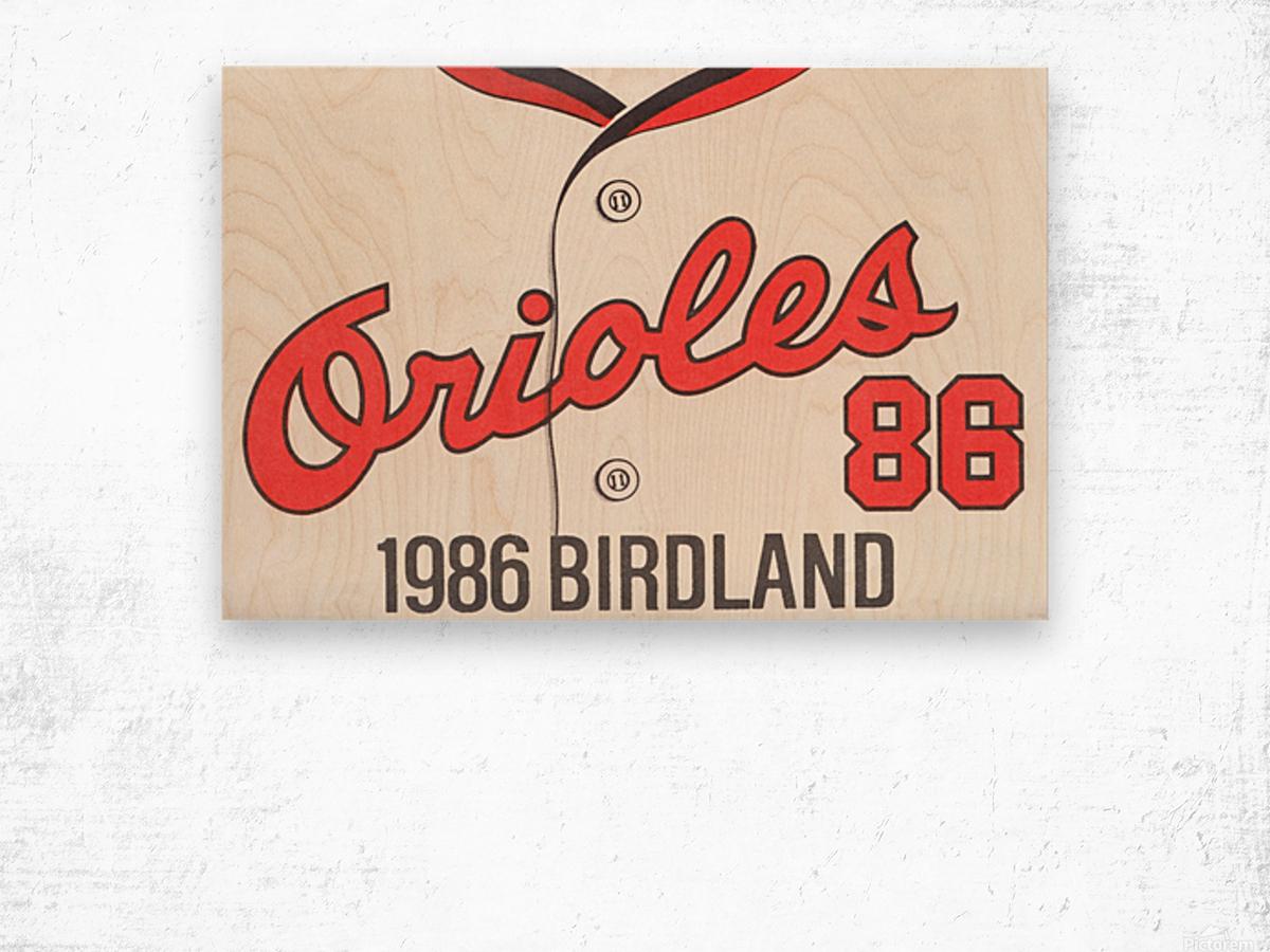 1986 Baltimore Orioles Metal Sign Wood print