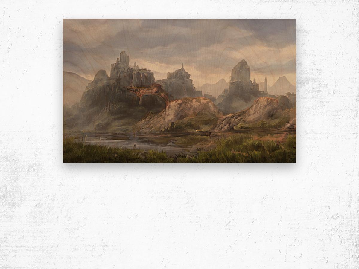 Ancient ruins Wood print