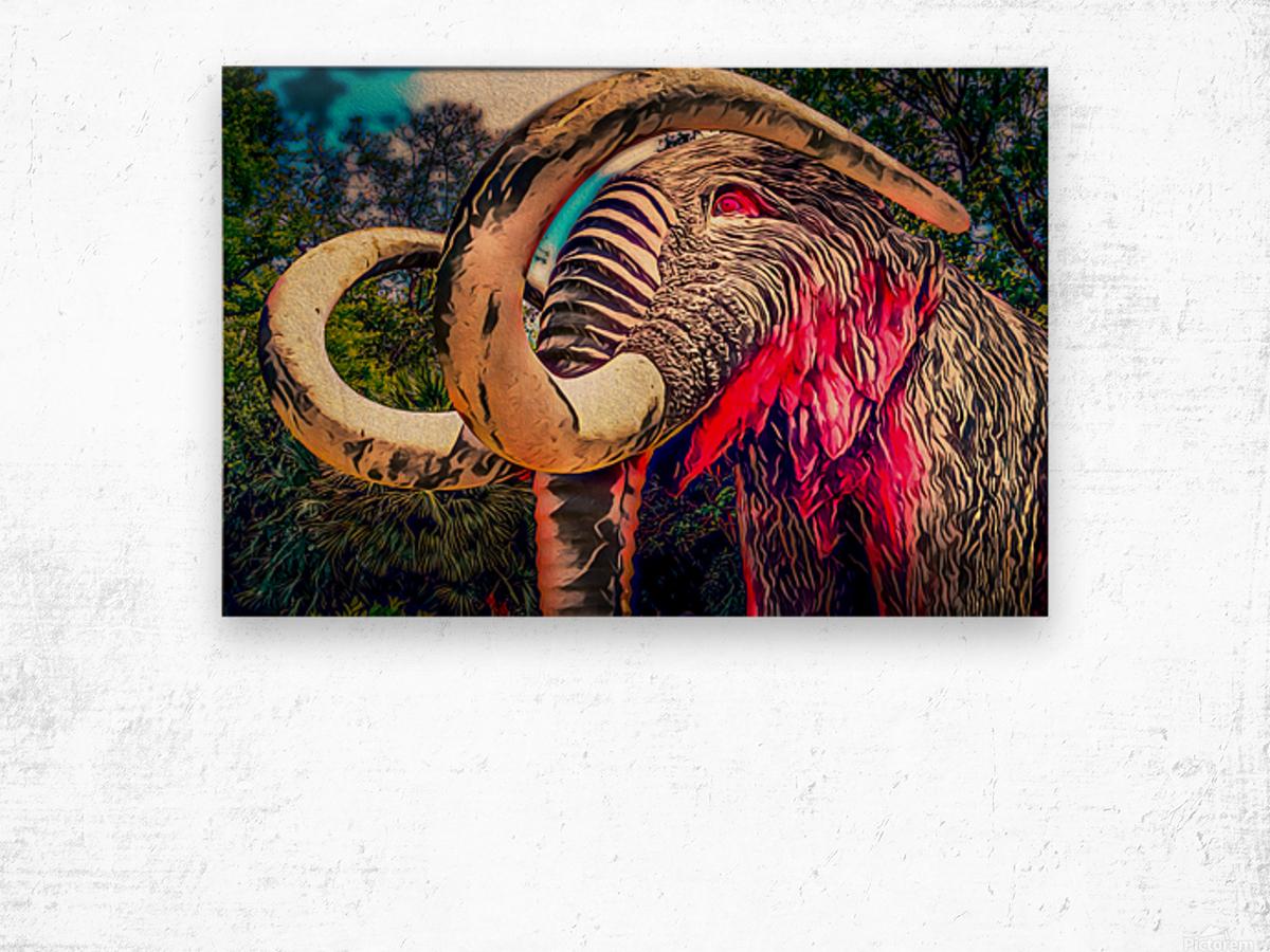Wooly Mamoth Wood print