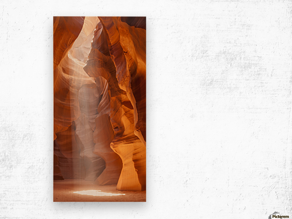 Beautiful Antelope Canyon Panoramic View Impression sur bois
