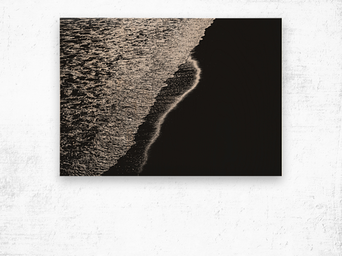 Moonlight Waves Revere Beach Wood print