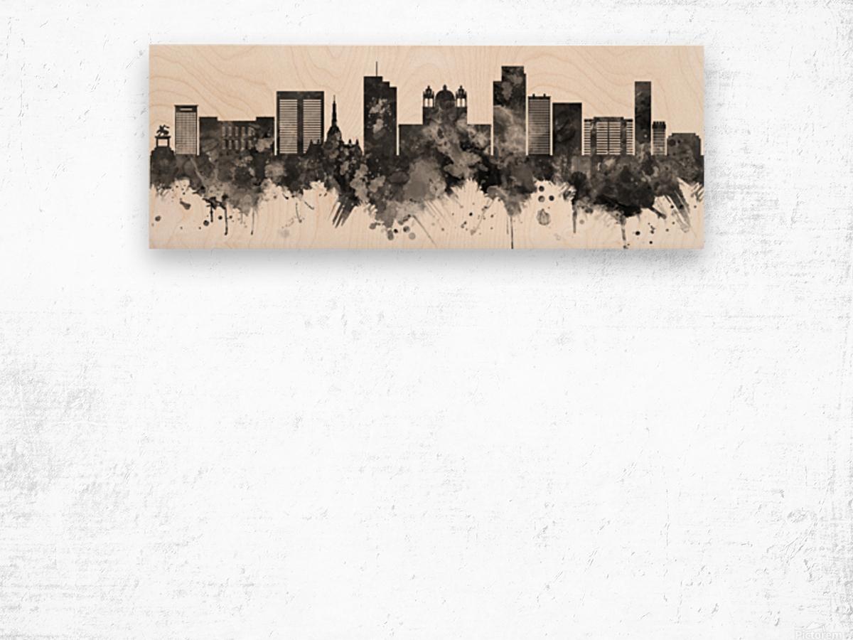 San Salvador Skyline Wood print