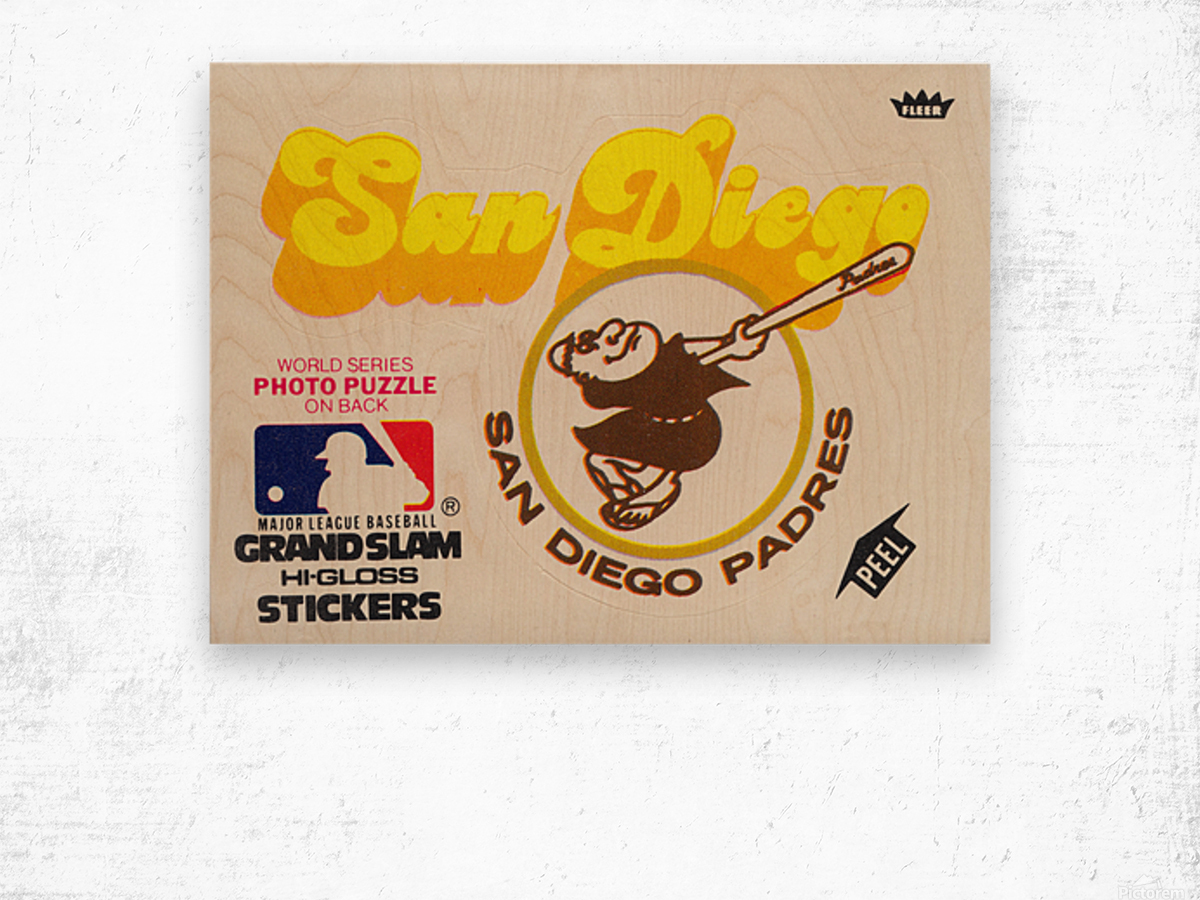 1981 Fleer San Diego Padres Decal Poster Wood print