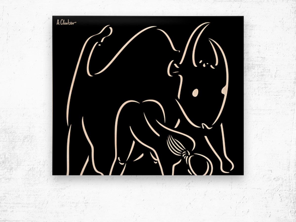 Pasiphae and the Bull Wood print