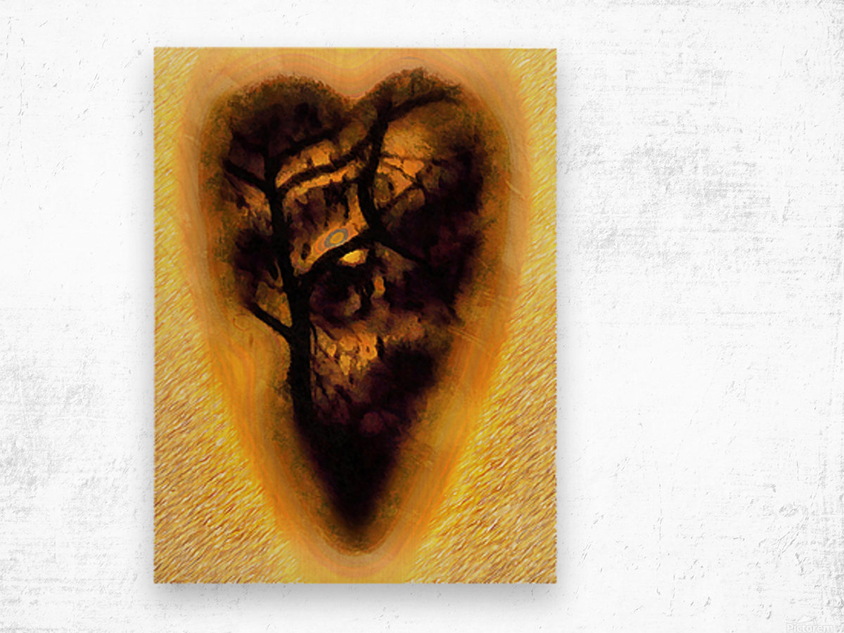 The Moon In My Heart 6 Wood print