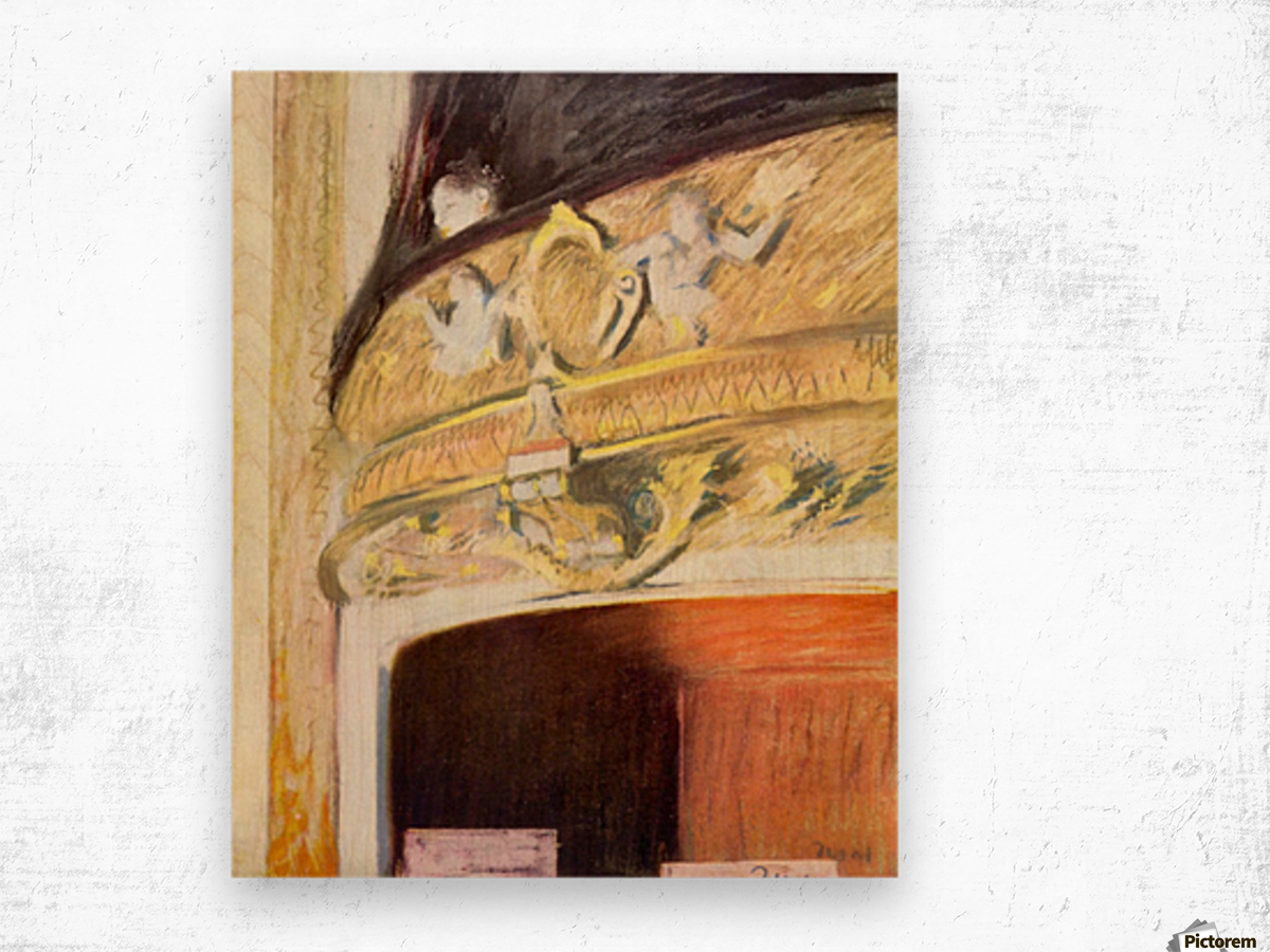 Theater Loge by Degas Wood print