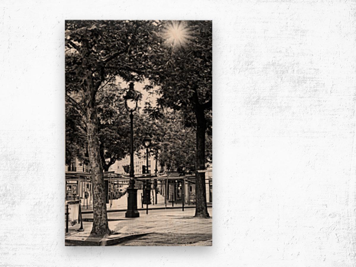 Richard Lenoir boulevard Impression sur bois