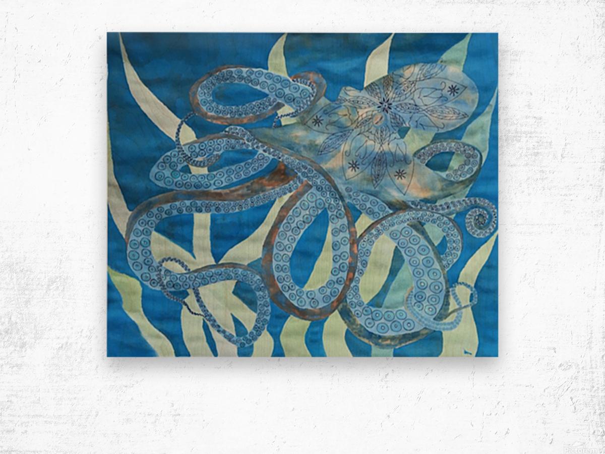 Octopus Guide Wood print