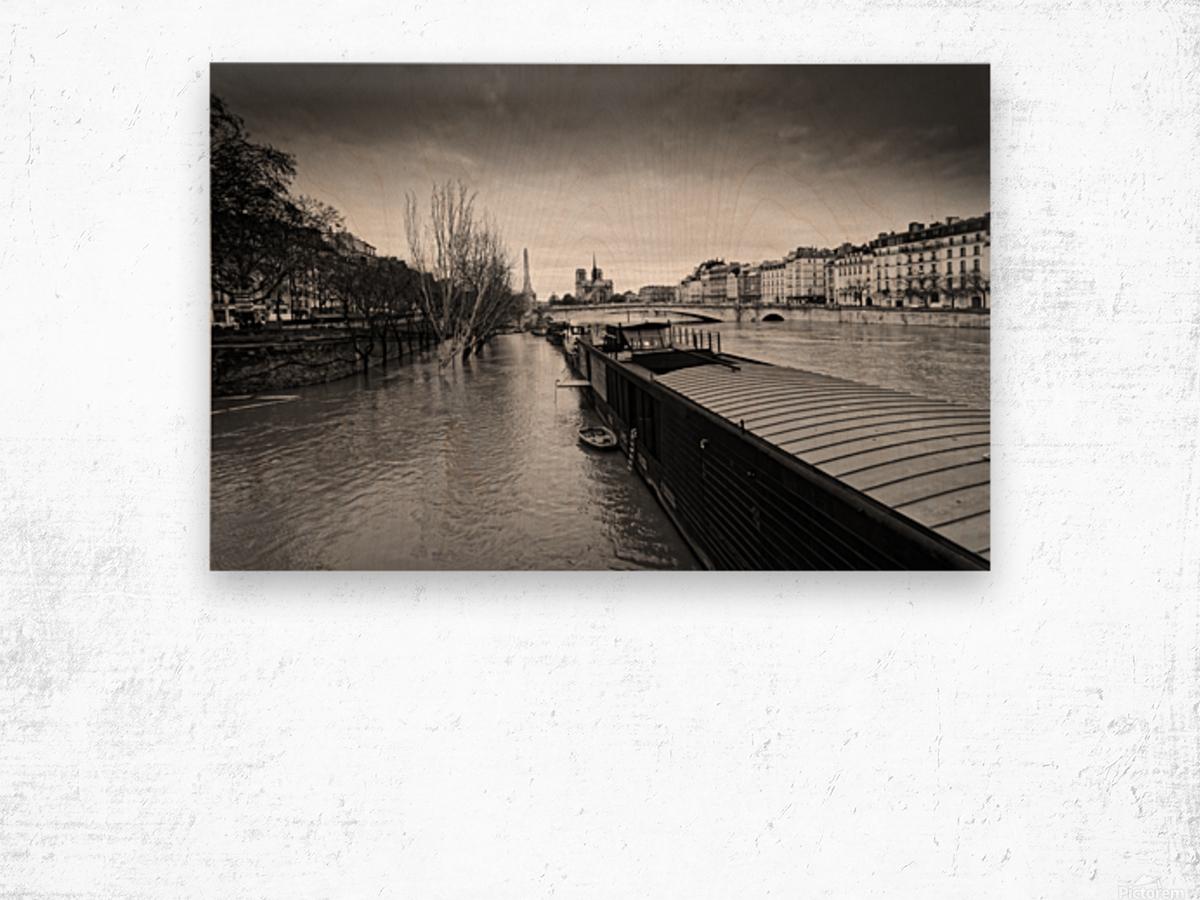 Flood in Paris Impression sur bois