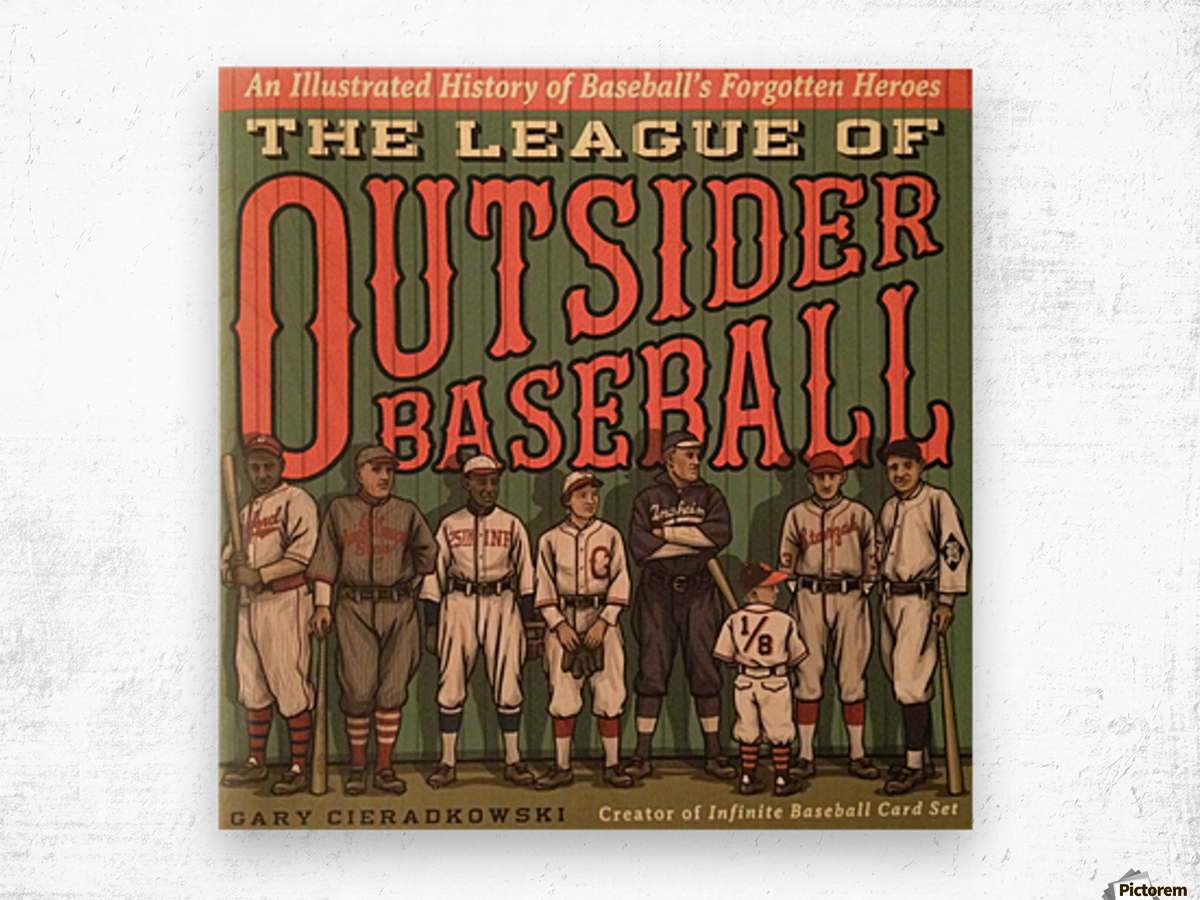 League of Outsider Baseball Wood print