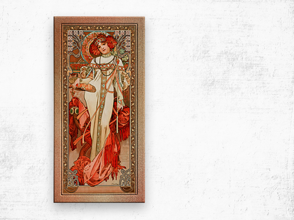 LAutomne by Alphonse Mucha Old Masters Reproduction Wood print