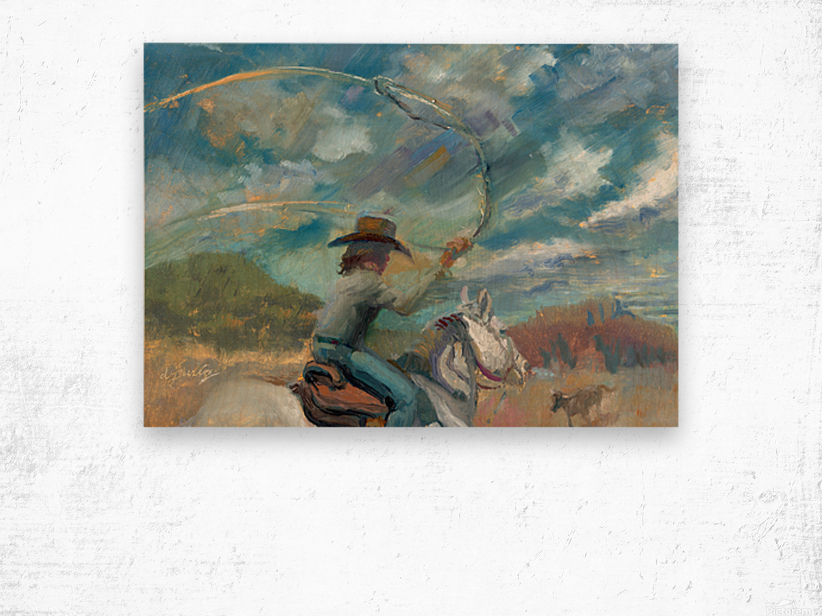 Ride Em Cowboy Wood print