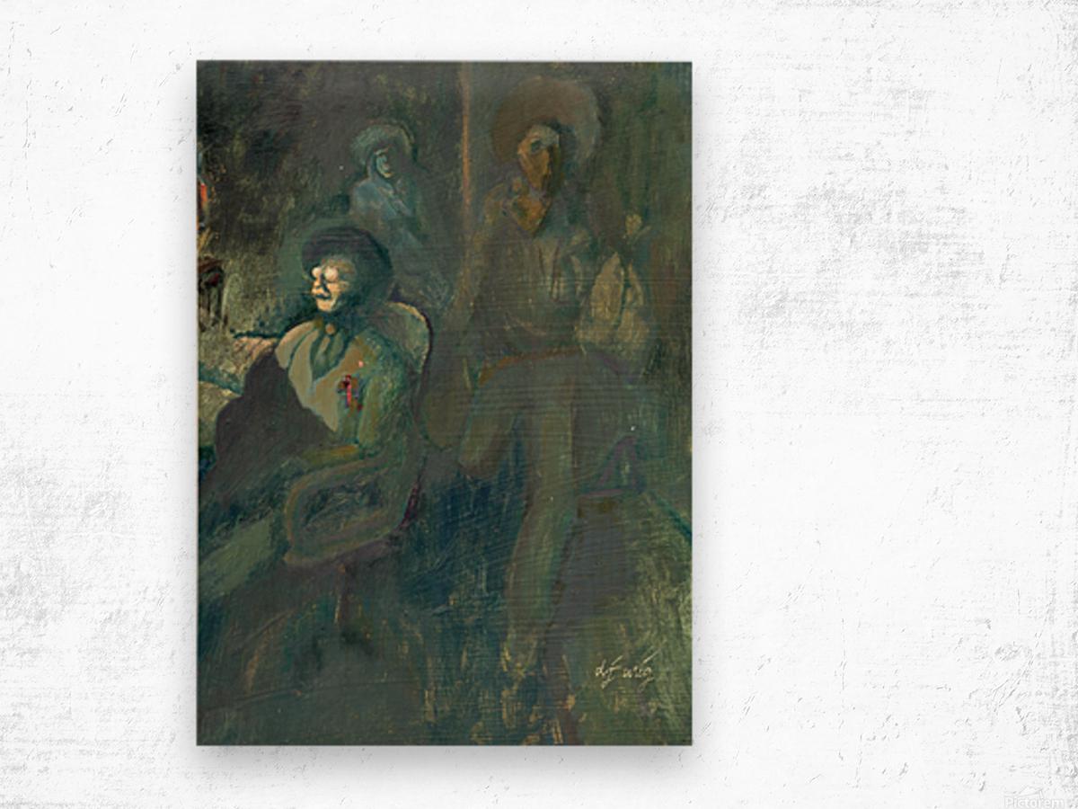 Ghost at AZ Bank Robbery Wood print