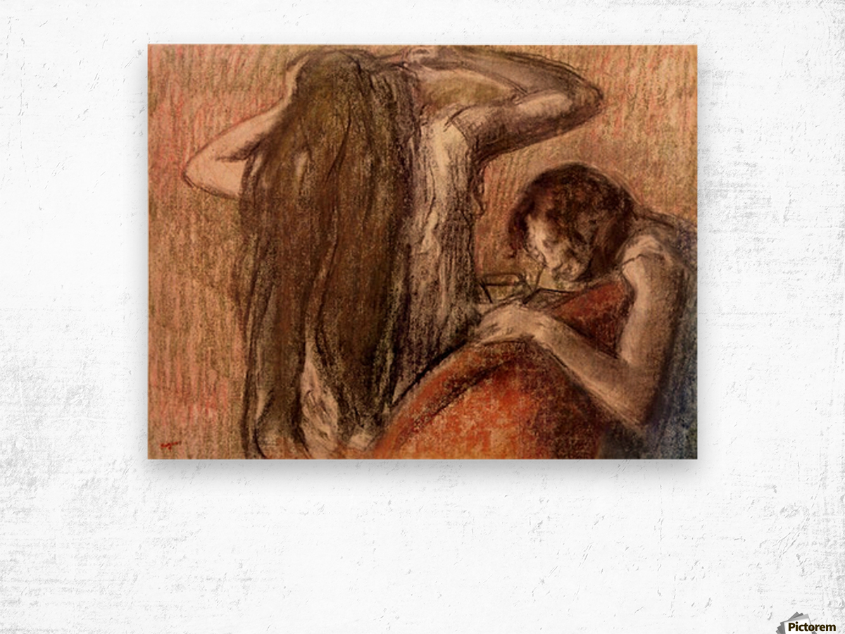 Two girls by Degas Wood print