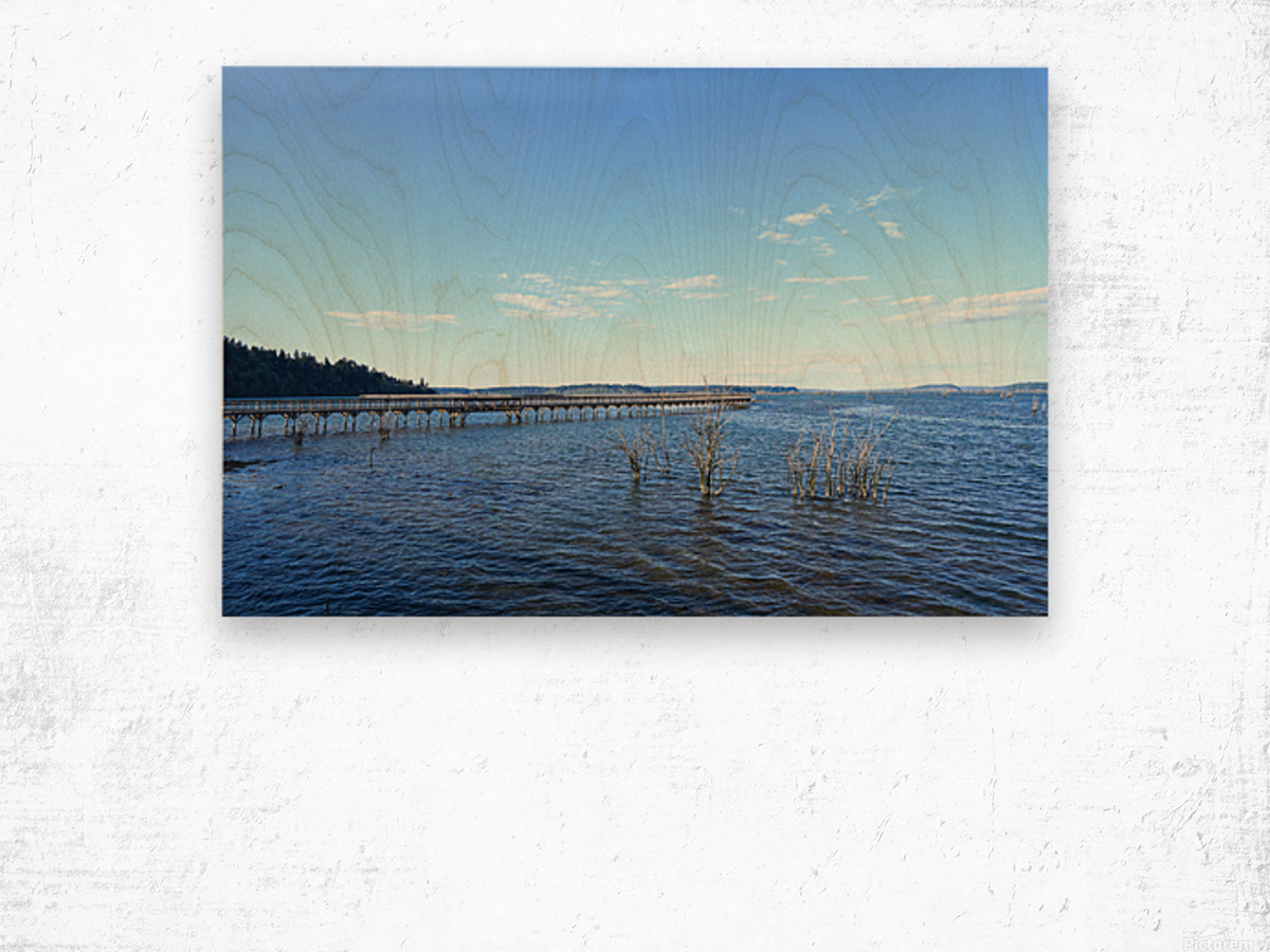 One Day at the Estuary 2 of 4 Wood print