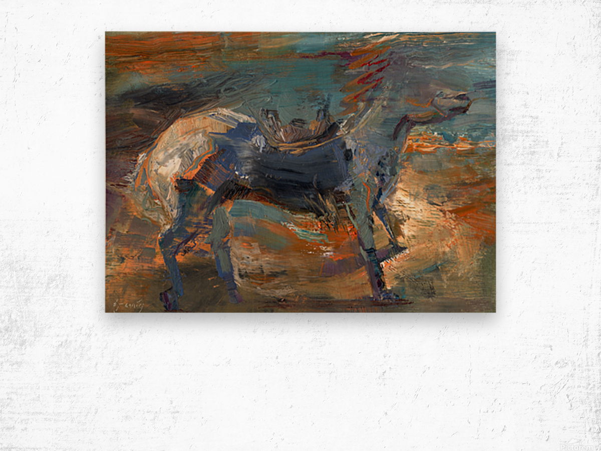 Ghost Rider - Titian Wood print