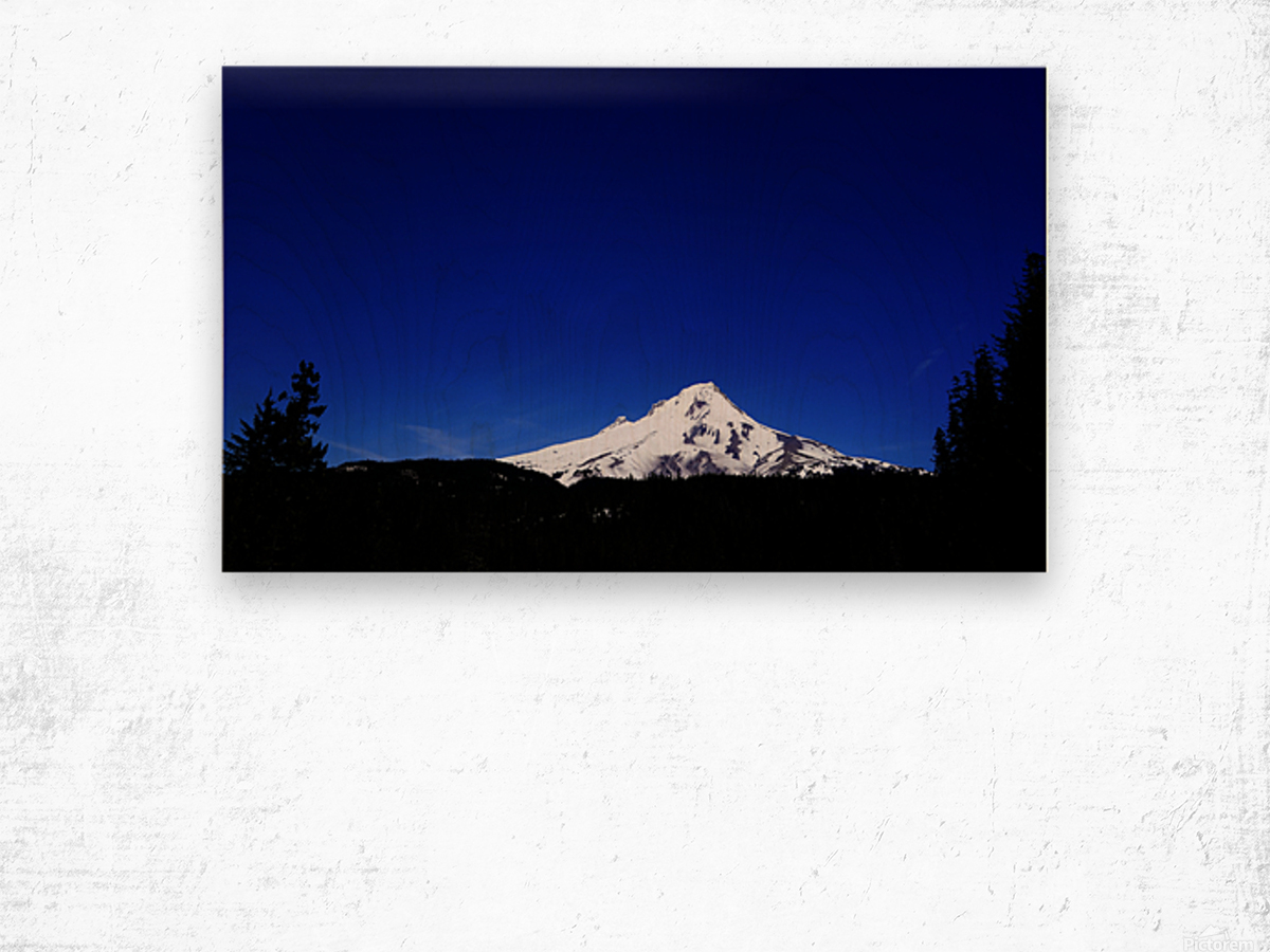 Mount Hood in the Waning Light of Day - Oregon Columbia River Gorge Wood print