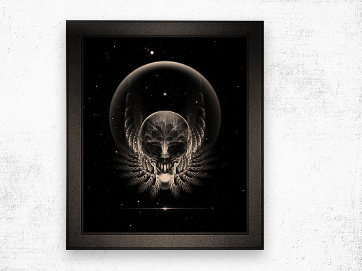 Gothic Wing Feitan Skull Fractal Art Composition Wood print