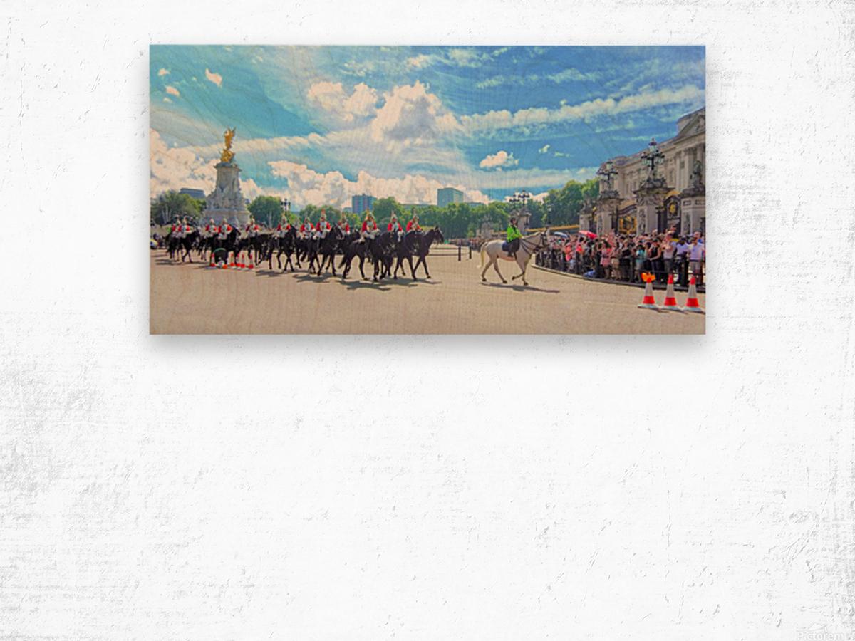 Changing of the Guard London United Kingdom Wood print