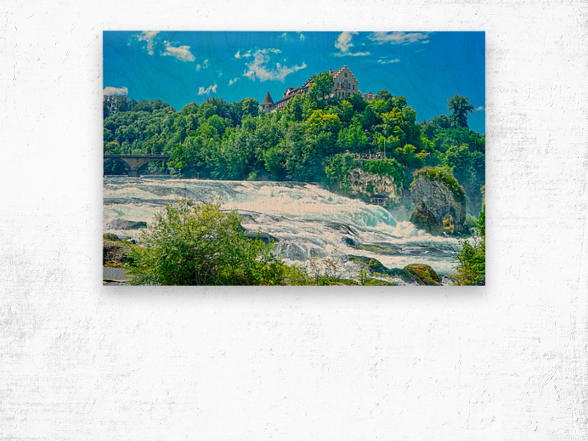 Perfect Day at Rhine Falls Switzerland Wood print