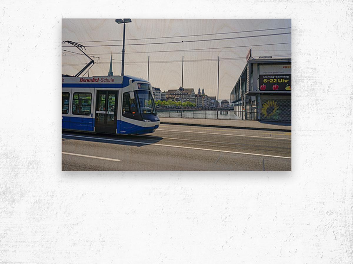 Snapshot in Time Zurich in Summer 4 of 6 Wood print