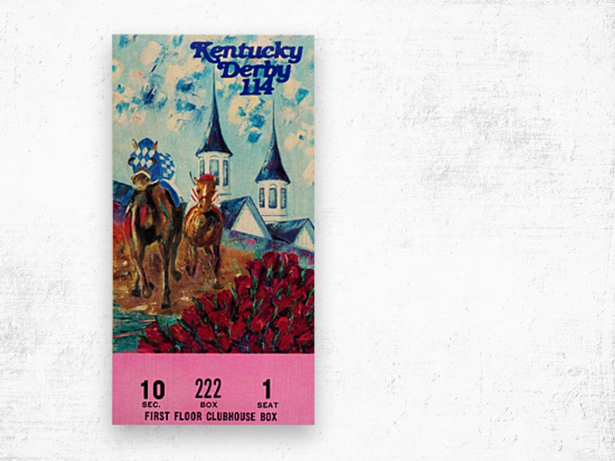 1988 Kentucky Derby Ticket Stub Canvas  Wood print