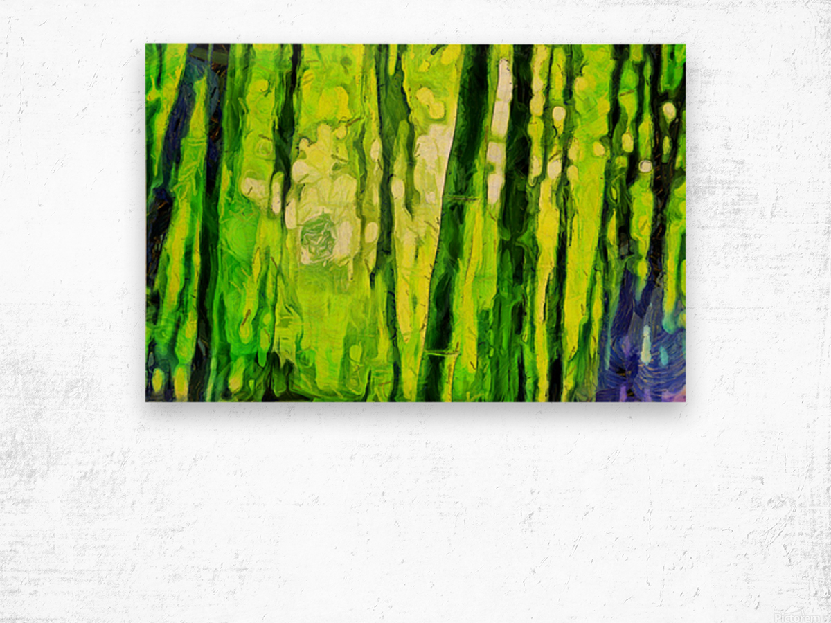 Bamboo forest oil painting inVincent Willem van Goghstyle. 3.  Wood print