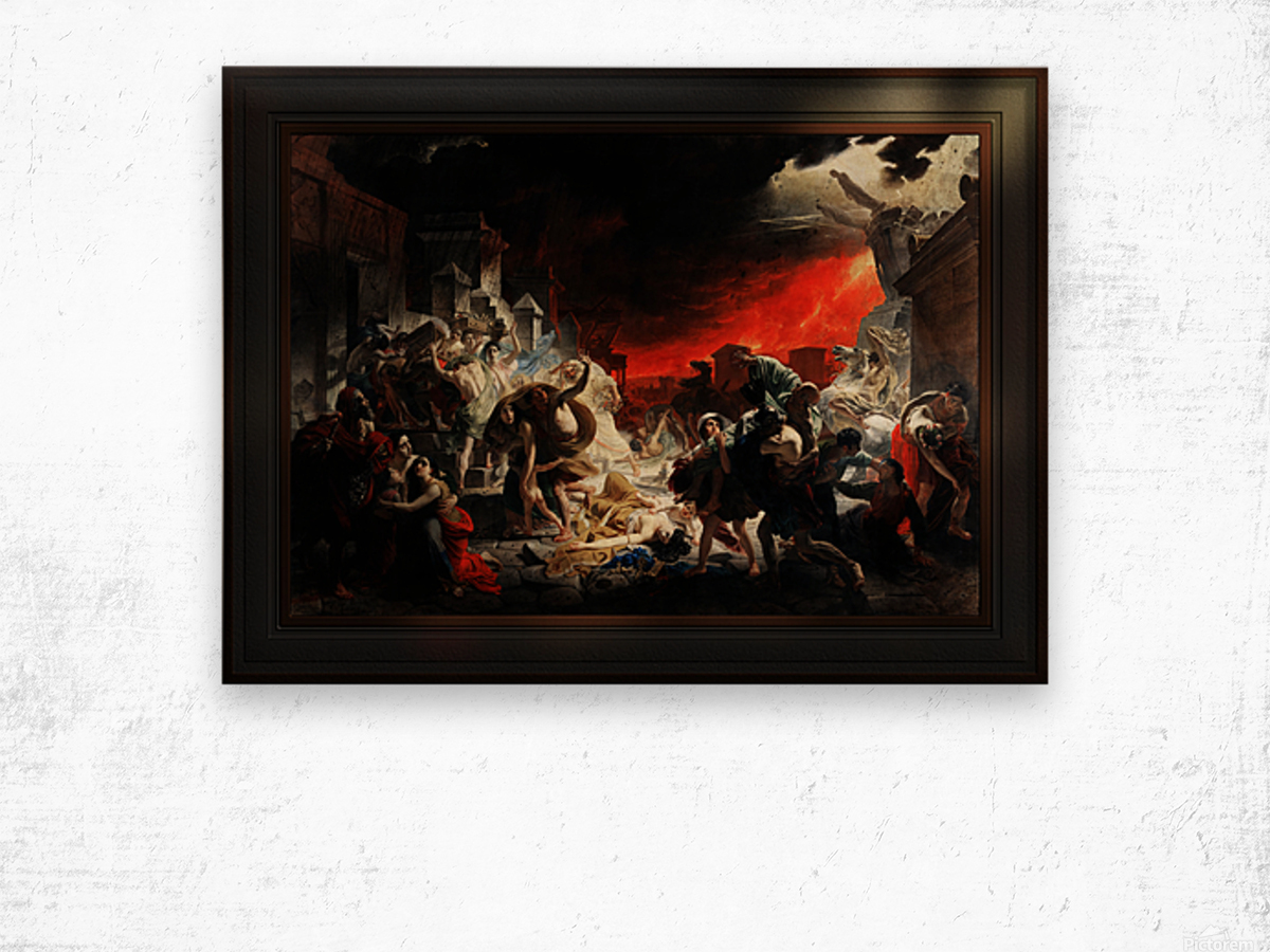 The Last Day of Pompeii by Karl Bryullov Classical Fine Art Xzendor7 Old Masters Reproductions Wood print