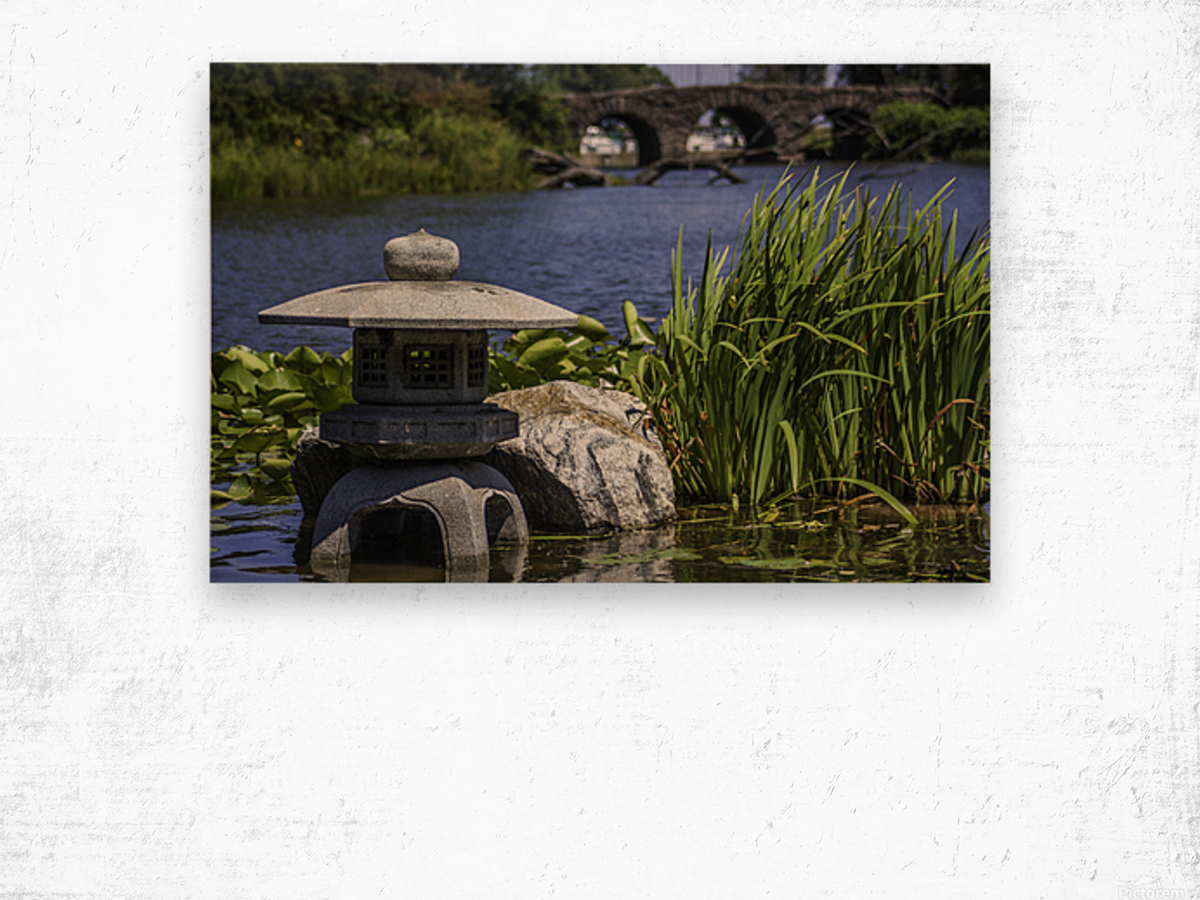 Pagoda in the Park Wood print