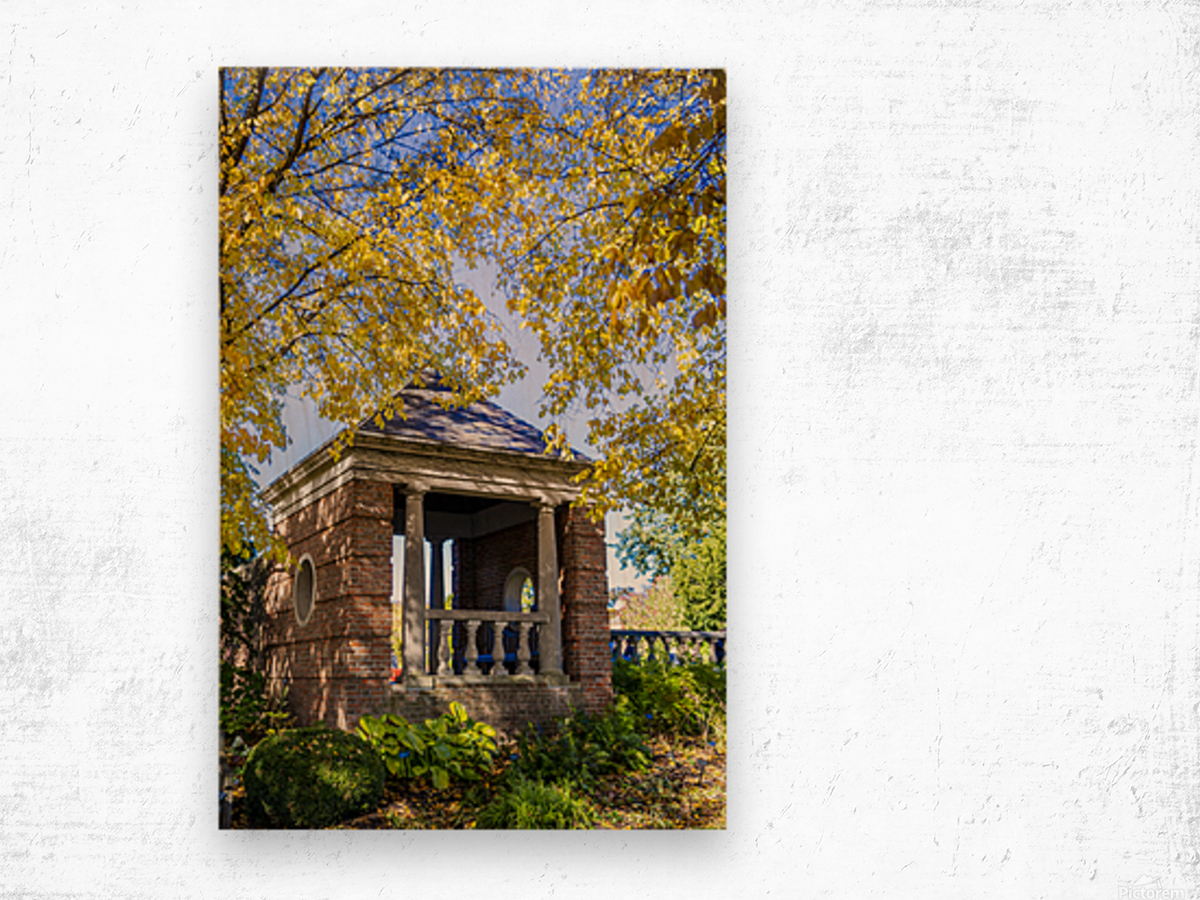 Shelter in the Fall Wood print