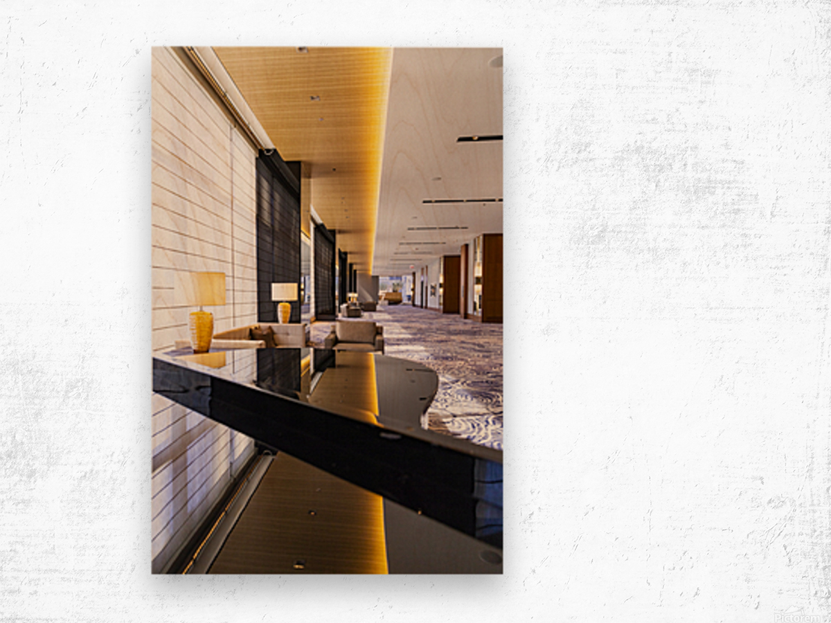 Hotel Hallways Wood print