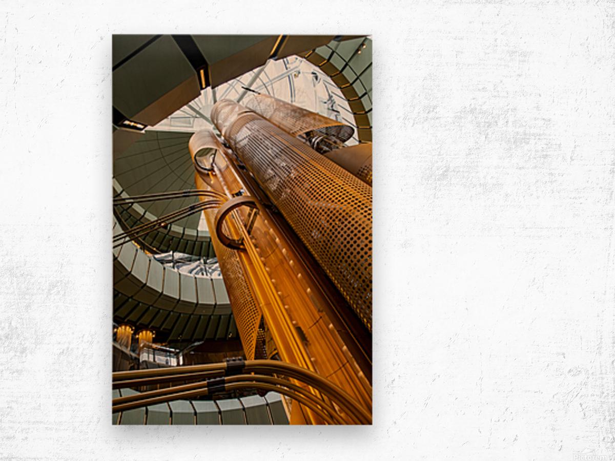 Metal Stacks Wood print