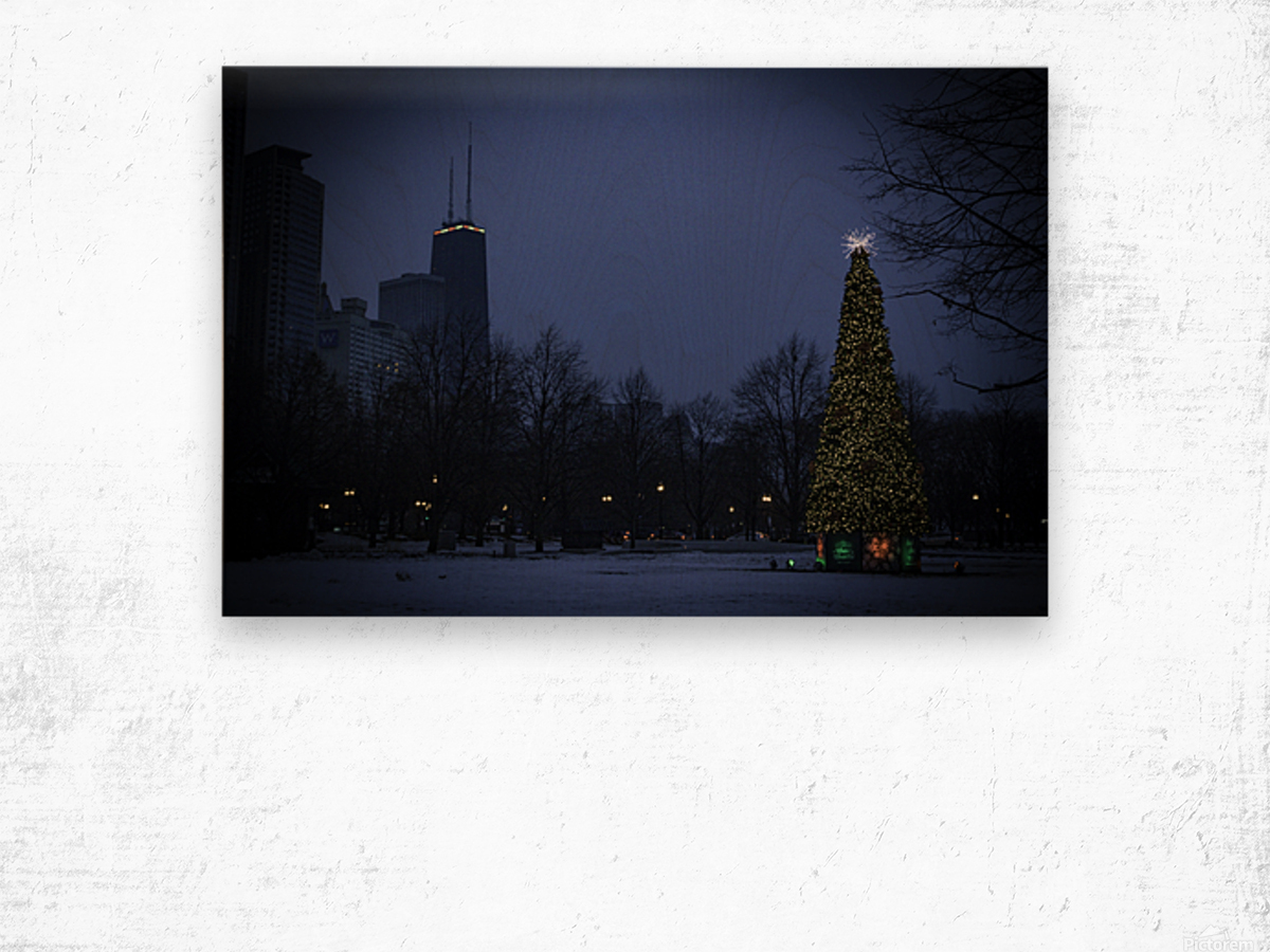 Chicago Christmas Wood print